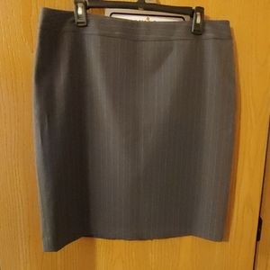 Nwot pinstriped pleated back pencil skirt
